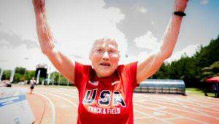 102-летняя спортсменка «Ураган» установила два мировых рекорда