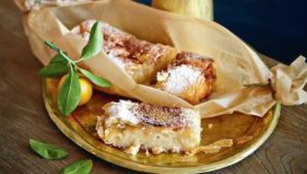 Бугаца: рецепт греческого слоеного пирога с заварным кремом